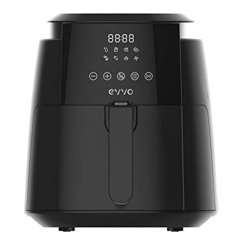 EVVO Freidora sin aceite Tasty Fryer - 1500W, Tecnología Dual Cyclone, Multifunción , hasta 200º, 3,5 litros