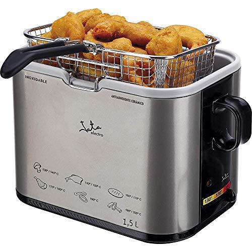 Jata - FR326E - Friteuse, 1000 watts, Couleurs Noir / Argent, 1.3L